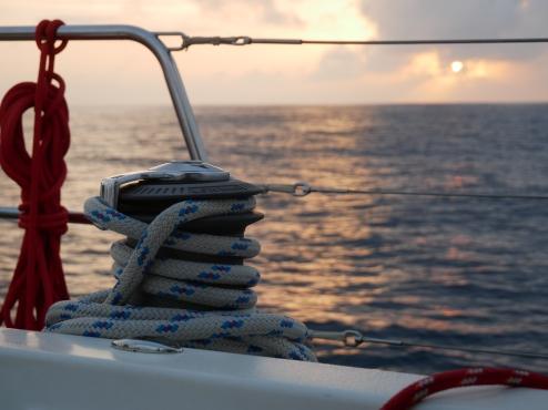 alleine auf See